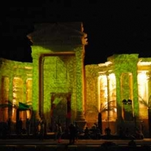 Theatre of palmyra at night1